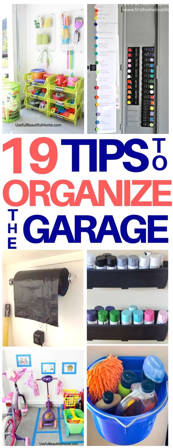 PERFECT! We are doing major garage organization this weekend so these ideas are exactly what I needed! I am definitely using the garage bags hack and great ideas on how to store kids toys. Love these organization hacks that will save tons of space! #organization #lifehacks #garage