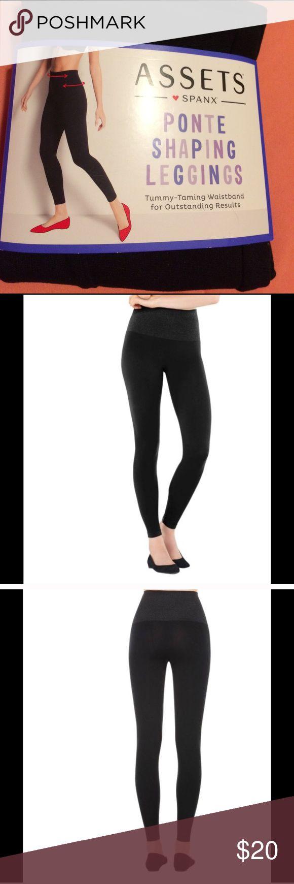 "Assets ❤ Spanx shaping leggings in black sz. large Assets ❤ Spanx pointe shaping leggings in black. Size large. (Waist 33.5""-35.5"" hips 41""-43"") SPANX Intimates & Sleepwear Shapewear"