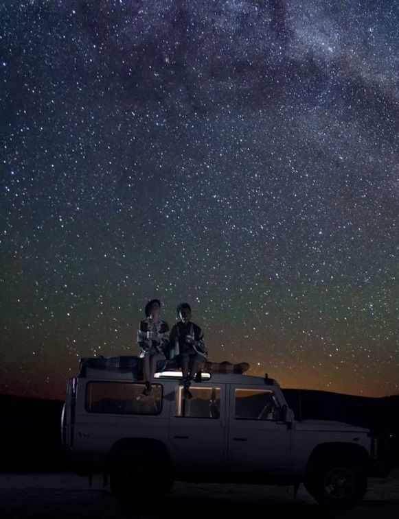The vast open plains of Africa are made for stargazing.