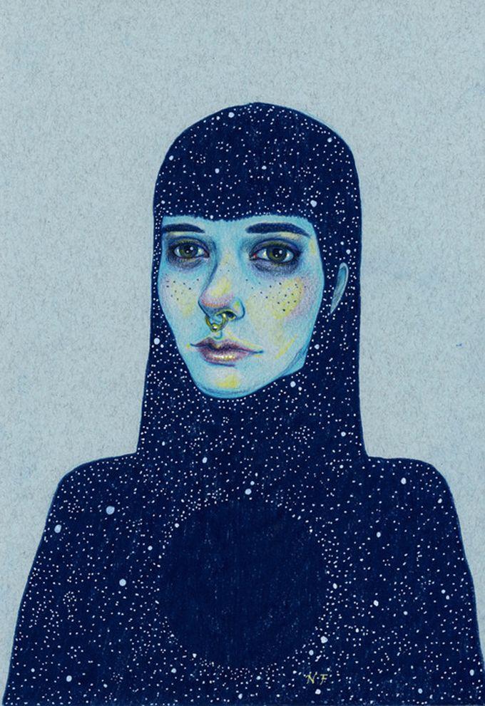Natalie Foss busca inspiração nas pessoas, na música e nos sentimentos para compor suas encantadoras ilustrações. Veja!