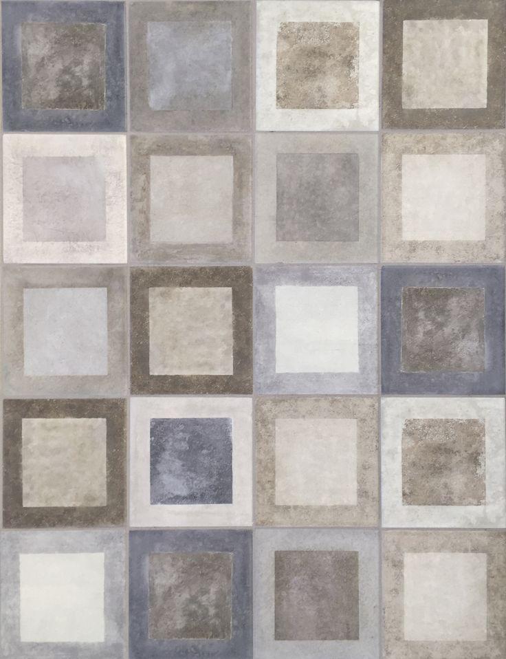 Il programma Frame di Tonalite presenta 3 colori a campo pieno e 15 decori in formato 11,6x11,6 declinabili in innumerevoli combinazioni a pavimento e rivestimento. Cersaie 2016