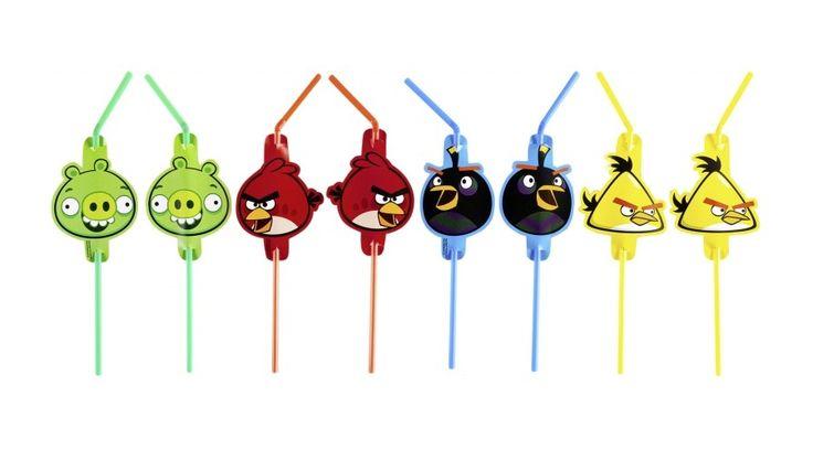 Angry birds szívószál - Angry birds party - Nicol party bolt budapest