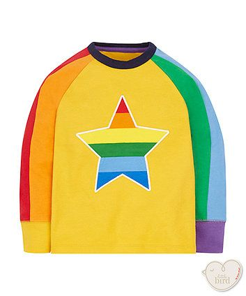 little bird multi colour star tee Size 2-3