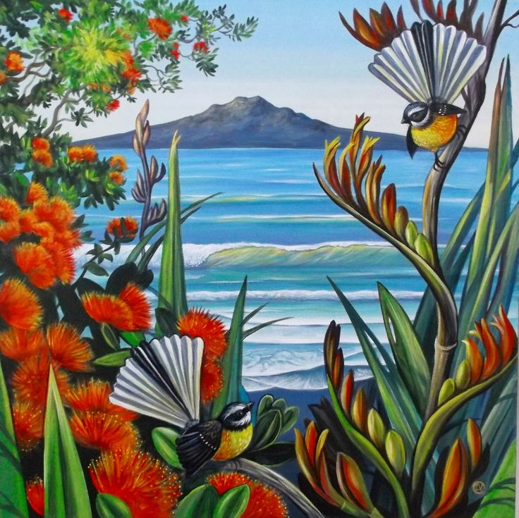 Landmark of Auckland- Rangitoto Island- on the background
