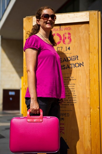 Camberwell bag in fuschia pink