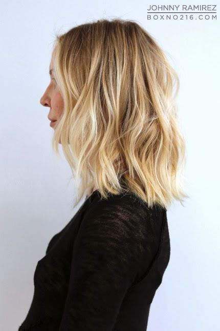 Honey blonde hair with lowlights