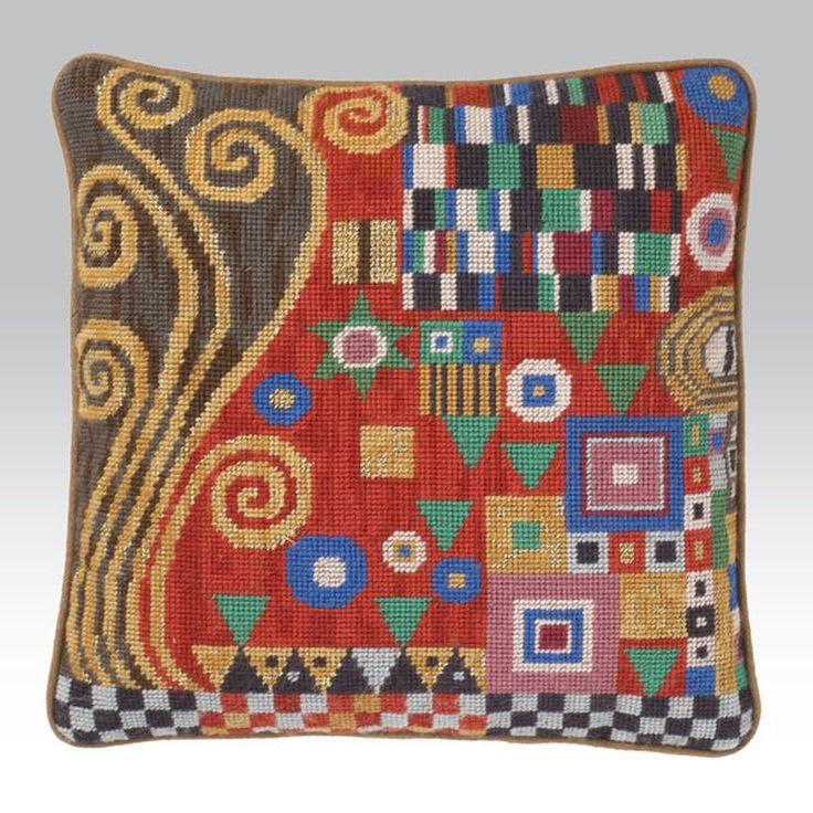 Klimt Scarlet - Ehrman Needlepoint Tapestry