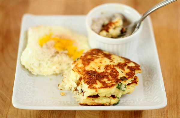 Mashed Potato Cakes with Scallions and Parmesan Cheese - great when ...