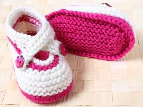 How to Knit Basic Mary Jane Baby Booties Part 2 (Left Bootie) - YouTube