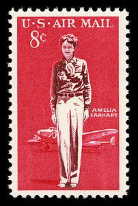 Pioneering aviator Amelia Earhart.