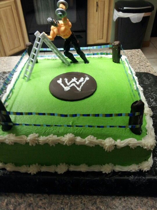 Wwe Cake Cake Ideas Wrestling Birthday Cakes Wwe Cake