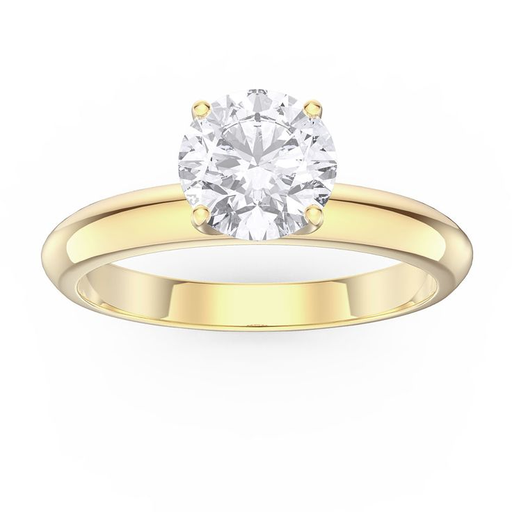 Buy Unity 1ct White Sapphire 18ct Gold Engagement Ring (YELLOW GOLD), R34673Z - £400 from Jian London. Free Delivery on all orders.
