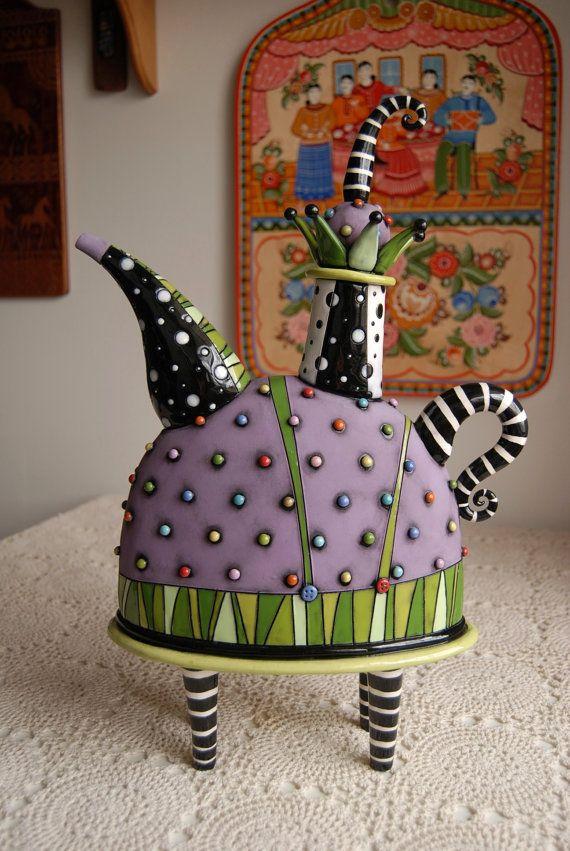 Jester Teapot by natalyasots on Etsy, $495.00