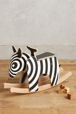 Wooden Rocking Zebra - anthropologie.com