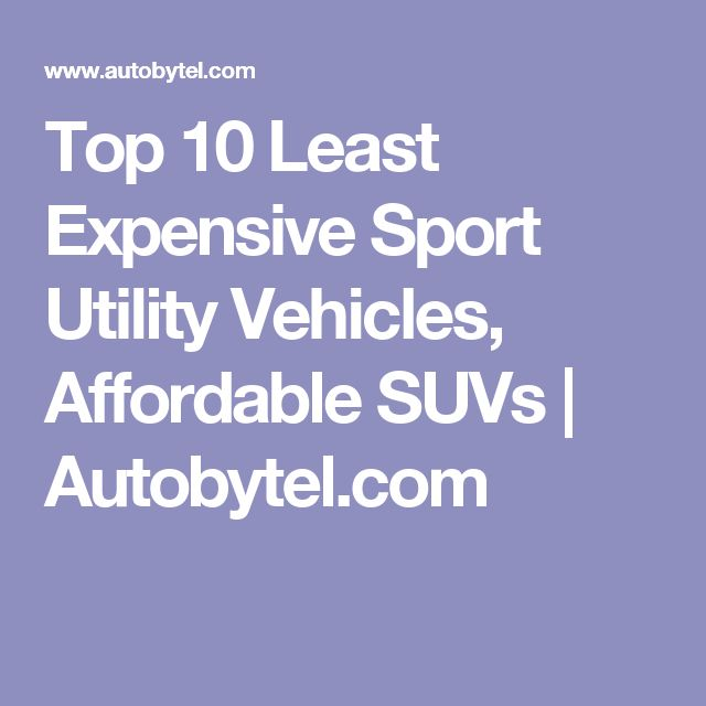 Top 10 Least Expensive Sport Utility Vehicles, Affordable SUVs | Autobytel.com