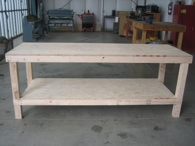 how-to-build-work-bench-2 for use as a farmhouse table ...