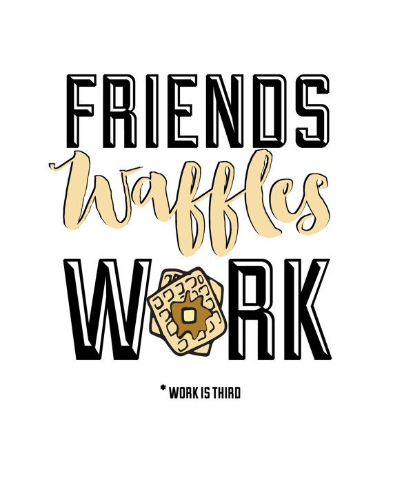 Waffles - Parks and Recreation Print