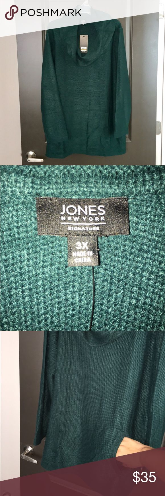 Plus size Sweater Jones New York Cowl-Neck Sweater With kangaroo pocket. Plus size. Jones New York Sweaters Cowl & Turtlenecks