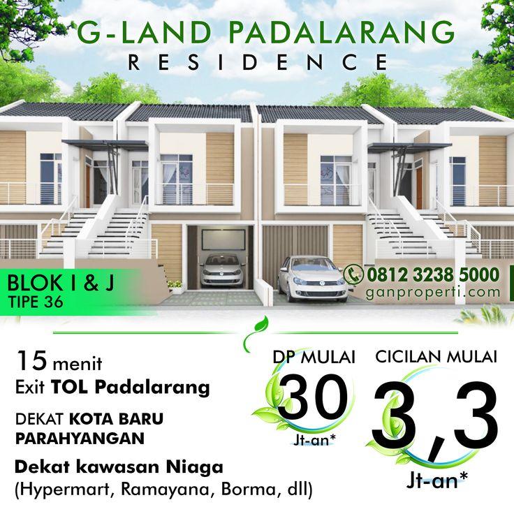 G-Land Padalarang Residence!  + 15 Menit Exit Tol Padalarang + Dekat Kota Baru Parahyangan + Dekat Kawasan Niaga (Hypermart, Ramayana, Borma, dll)  DP Mulai 30 Jutaan! Cicilan Mulai 3,3 Jutaan! Mau DISKON?  Hub Telp/WA 0812 3238 5000 atau www.ganproperti.com  #house #rumahnyaman #properti #perumahan #property #realestatelife #realestate #rumah #rumahminimalis #rumahku #rumahbandung #perumahanbandung #25lokasi #landed #housing #ganproperti #lokasistrategis #rumahbaru #rumahbaruku…