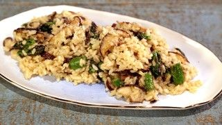 Mushroom and Asparagus Risotto Recipe by Clinton Kelly | The Chew - ABC.com