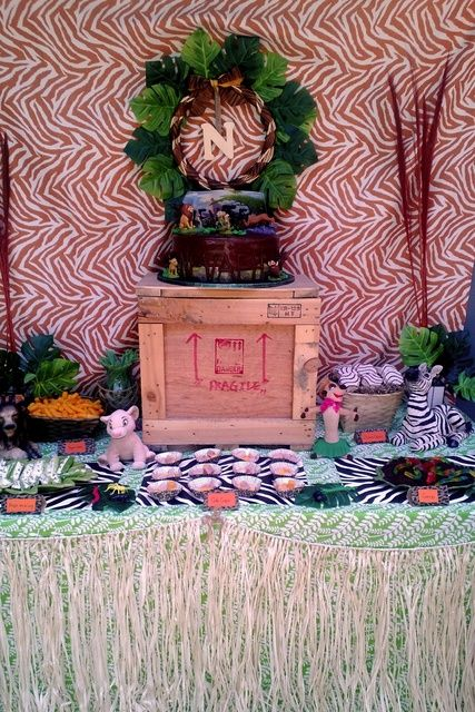 Awesome Dessert Table At A Lion King Party See More Party