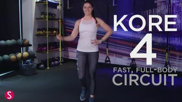 Challenge your endurance and your strength with this eight-minute Kore 4 circuit workout that engages your entire body.