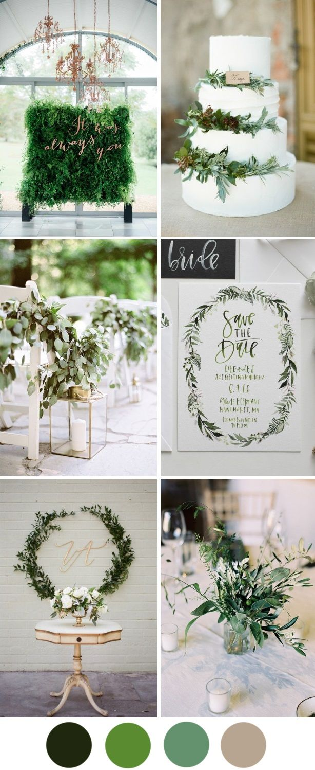 Pantone's colour of the year Greenery brings us back to nature and celebrates new beginnings - here's how to use it in your wedding decor.