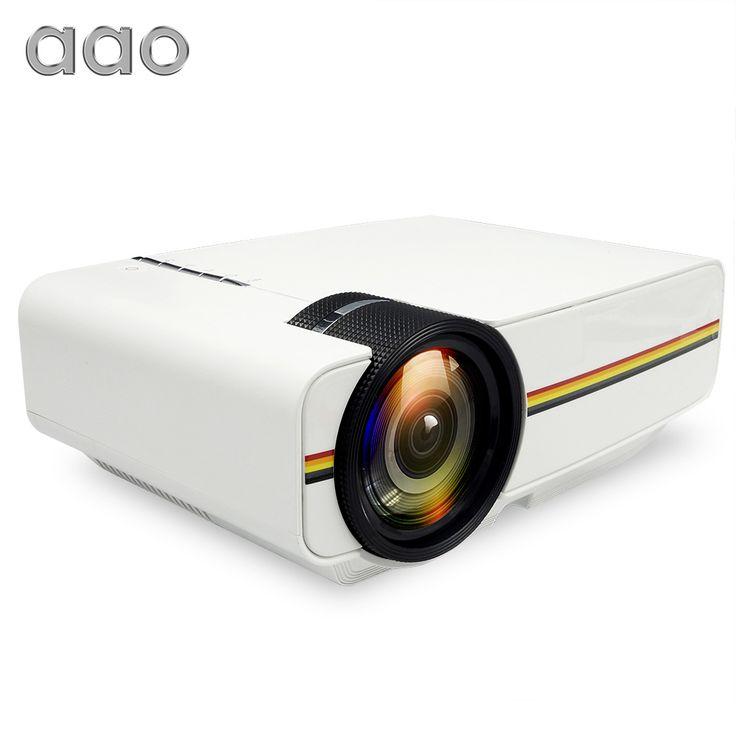 AAO YG400 up YG410 Mini Proyector Con Cable de Sincronización de Pantalla Portátil AC3 Apoyo 1080 P Proyector de vídeo De Cine En Casa HDMI VGA USB