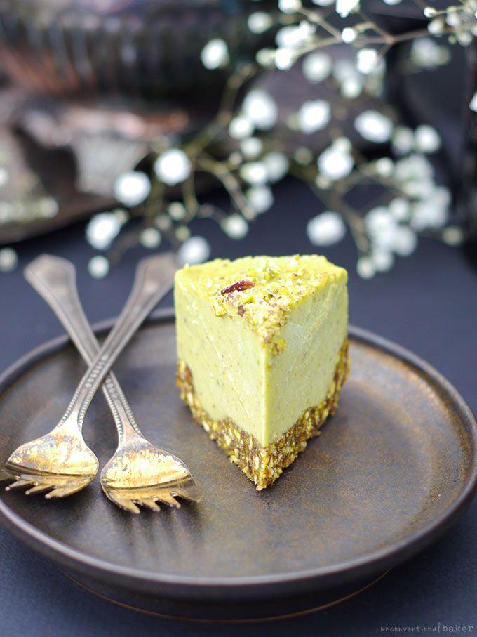 Pistachio & Orange Blossom Raw Avocado Cake (Free from: dairy, gluten ...