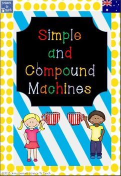 This bright, fun, practical and very comprehensive simple and compound machines unit includes the following: A teachers guide with thorough explanations of concepts included, Assessment for each of the activities included,Comprehensive extension work for three of the activities to extend students laterally, Full activity descriptions,6 x Bright and fun simple machines posters Assessment worksheets extension worsheets and more.