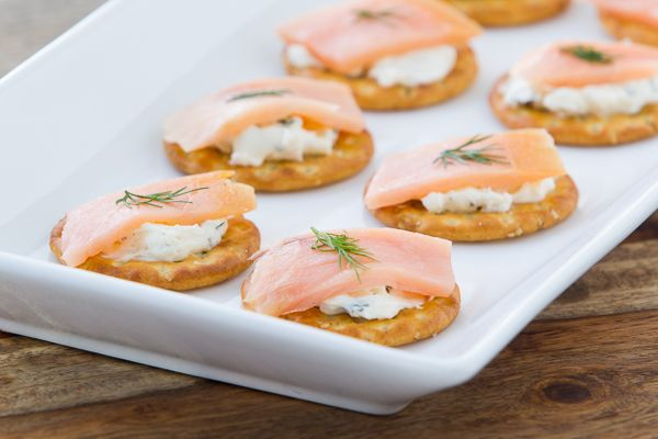 "Smoked Salmon and Creme Cheese Appetizer - File this under ""Fancy Party Snack"""