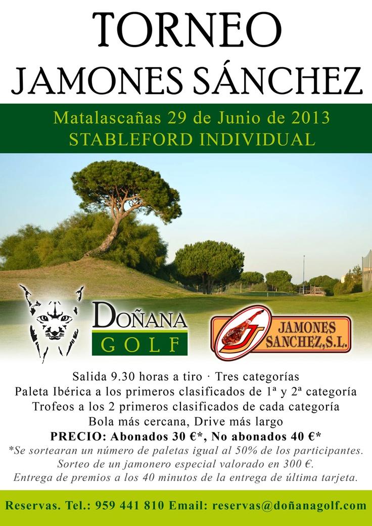 29 de junio 2013, Torneo Jamones Sánchez, Doñana Golf