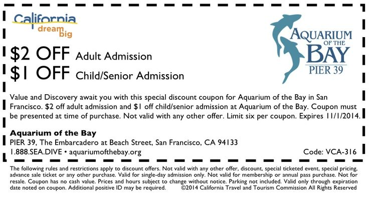 Monterey bay aquarium coupon discounts