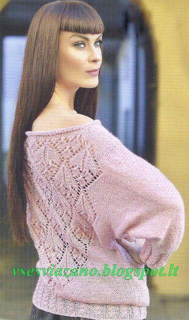 ВСЕ СВЯЗАНО. ROSOMAHA.: Пуловер цвета пыльной розы со спущенным плечиком