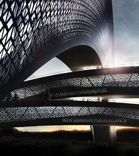 Cebra Architects designs world's largest skidome in Randers, Denmark.