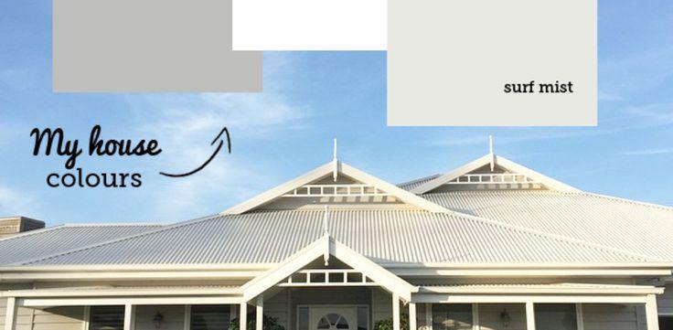 Grey weatherboard house colours - Katrina Chambers
