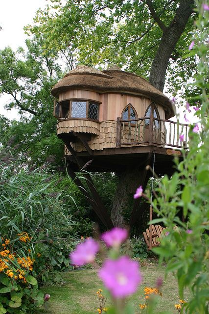 The Blue Forest Treehouse at Amberley Castle in West Sussex, EnglandDreams, Trees Forts, Tree Houses, Treehouse, Gardens, Trees House, Cottages, Trees Home, Places
