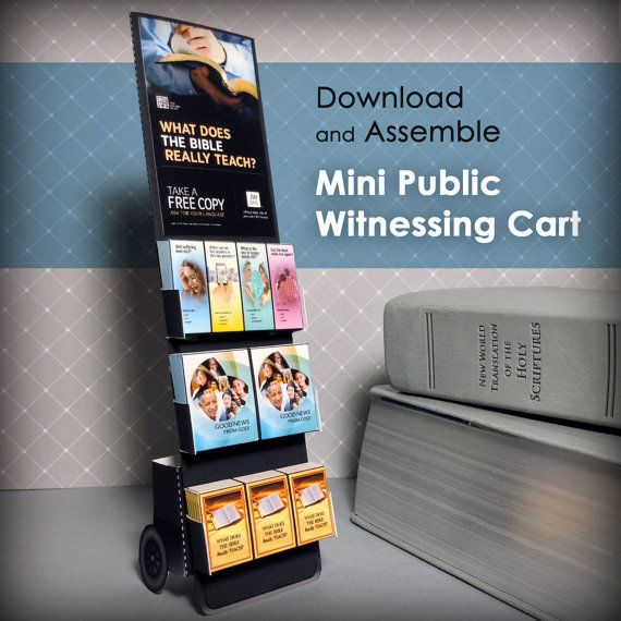 This is an instant PDF download for a mini public witnessing cart. After purchasing this file your must download it from Etsy, Print it out on