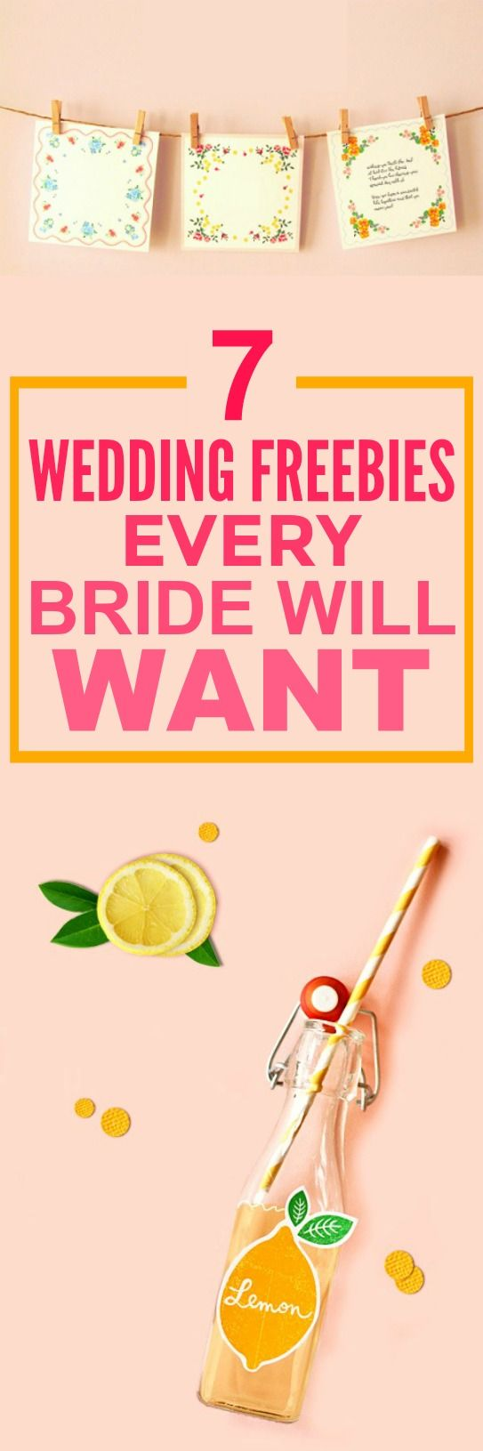 These 7 wedding freebies are THE BEST! I'm so happy I found this AMAZING post! These tips and hacks will save me SO MUCH money! SO pinning for later!