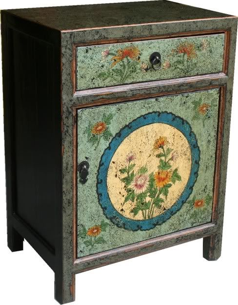 Chinese Painted Bedside Table :: Bedside Tables :: Chinese Furniture ::  Chinese Antique - 66 Best Chinoiserie Japonism Orientalism Images On Pinterest