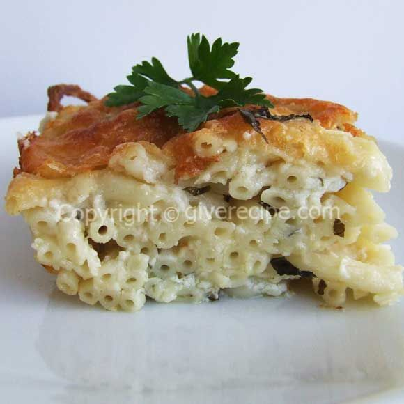 Pasta in oven with loads of cheese | giverecipe.com | #pasta #cheese