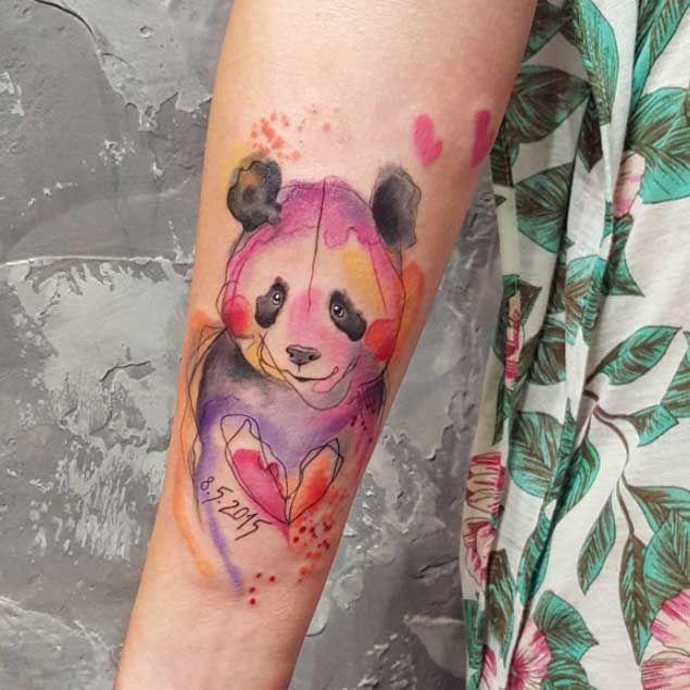 Panda Tattoo Design by Simona Blanar