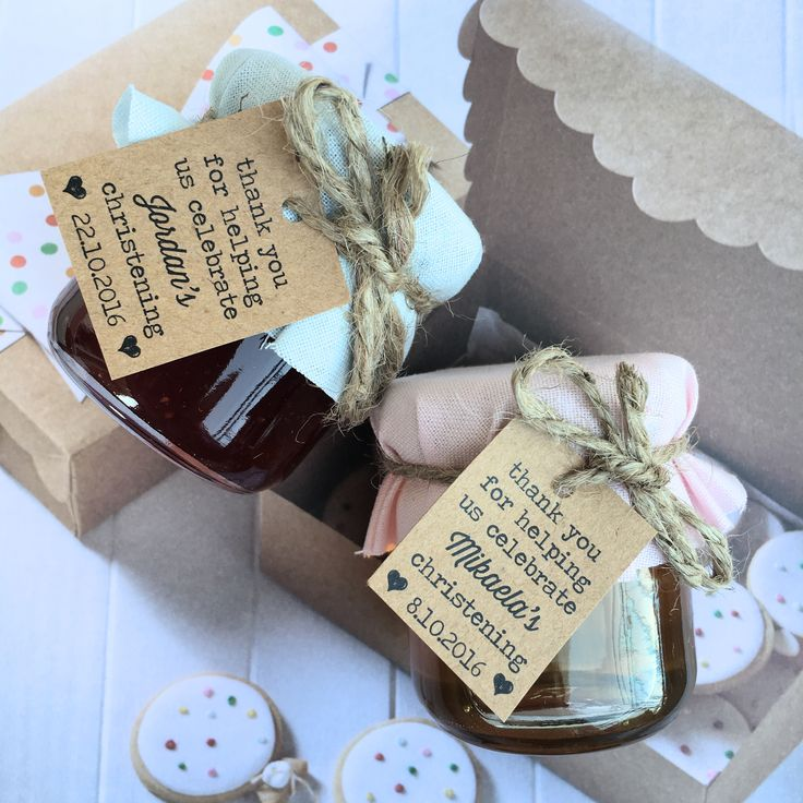 Christening favours / Baptism Favours / Christening Party / Baptism Party / Jam Favours  Made by sweettillyflint.com