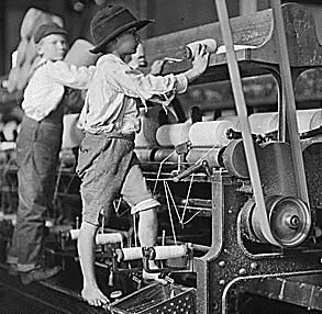 Children Working in a Textile Mill