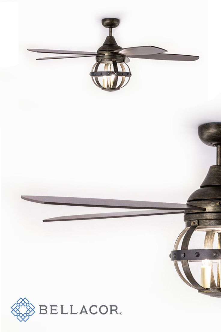 251 First River Station Natural Iron Three Light Fan