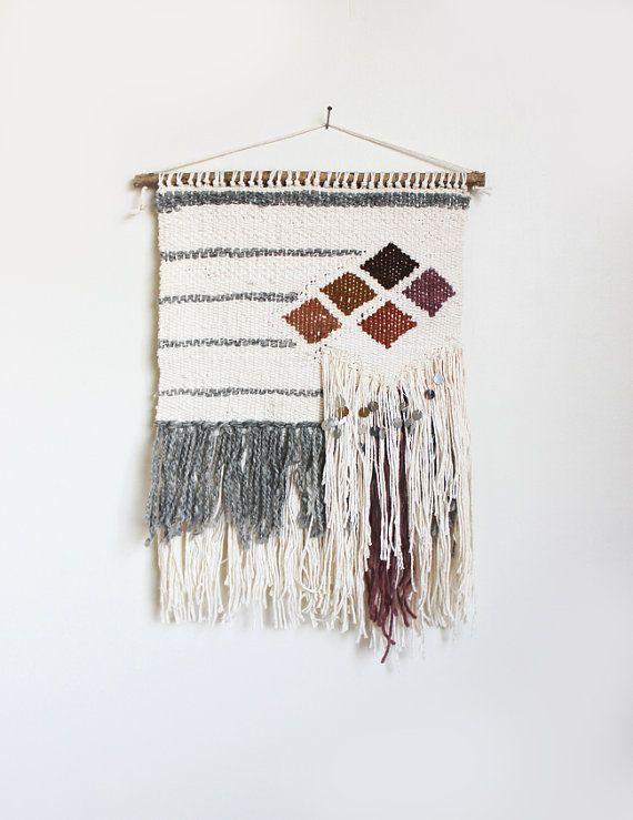 Diamond Stripes Weaving HandWoven Wall Hanging by hellohydrangea