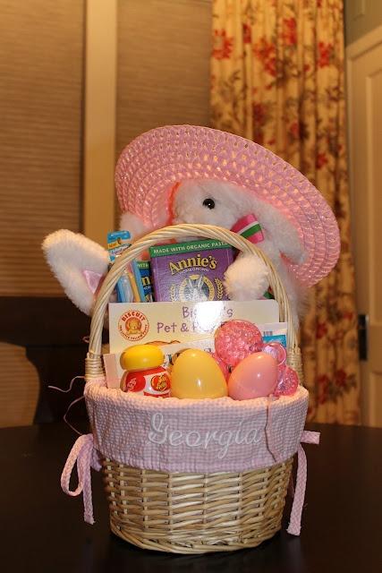 Easter basket for baby, monogrammed Easter basket