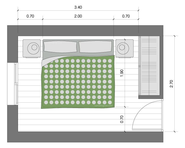 Las 25 mejores ideas sobre medidas de cama queen en for Cuanto mide una cama queen size