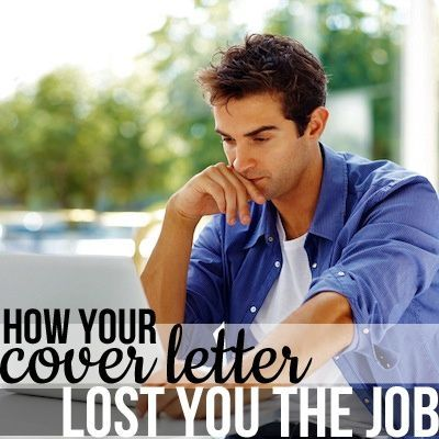 5 Ways Your Cover Letter Lost You The Job. Curated By Resume Foundry    Modern