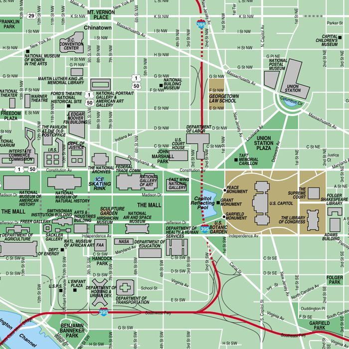 map of the nagtional mall | Washington, DC Map > Washington DC Locator Map • National Mall Maps